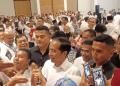 Presiden Jokowi saat hadiri Raker Bravo-5 di Ancol, Senin (10/12/2018).