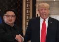 Kim Jong Un dan Donald Trump.