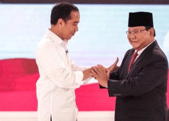 Keakrapan Jokowi dan Prabowo usai debat Capres di Hotel Sangrilla Jakarta.