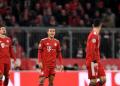Ekspresi para pemain Munich usai di singkirkan Liverpool.