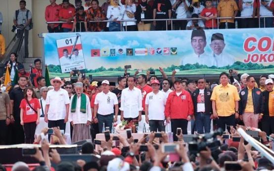 Kampanye akbar Jokowi di Banten.