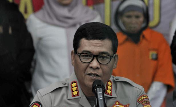 Kabid Humas Polda Metro Jaya Kombes Argo Yuwono saat rilis pengungkapan kasus penculikan.
