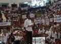 Jokowi saat kampanye di Ciracas, Jakarta.