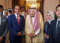 Presiden Jokowi dengan Raja Salman.