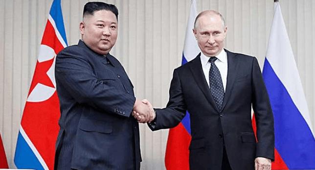 Kim Jong Un dan Vladimir Putin.
