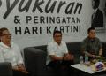 Erick Thohir dan Moeldoko saat menghadiri acara syukuran kemenangan Perempuan Keren Pendukung Jokowi-Ma'ruf.