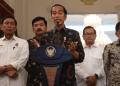 Presiden Joko Widodo (Jokowi) menyampaikan keterangan pers terkait perkembangan situasi nasional terkini di Istana Kepresidenan, Jakarta, Rabu (22/5/2019). (Foto: Antara)