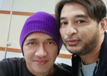 Agung Hercules saat dijenguk Jeremy Teti di RSUD Kota Tangerang, Banten, Senin (17/6/2019). (istimewa)