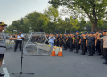 TNI-Polri menggelar apel jelang sidang lanjutan sengketa Pilpres 2019 di MK, Selasa (18/6/2019).