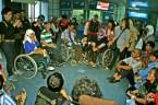Melakukan evaluasi intensif selama di stasiun Commuterline Juanda. ( Tajuk.co / Aljon Ali Sagara )