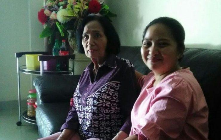 Oma Evi (Manado) bersama mbk desi (Hamba Tuhan dari Jogja)
