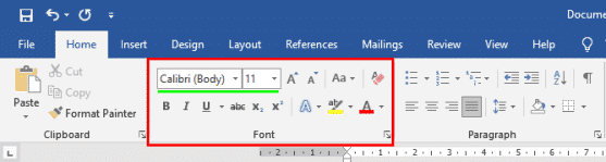 Mengubah Jenis Font di Microsoft Word