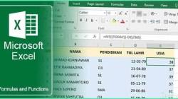4 Rumus Menghitung Umur di Excel yang Mudah