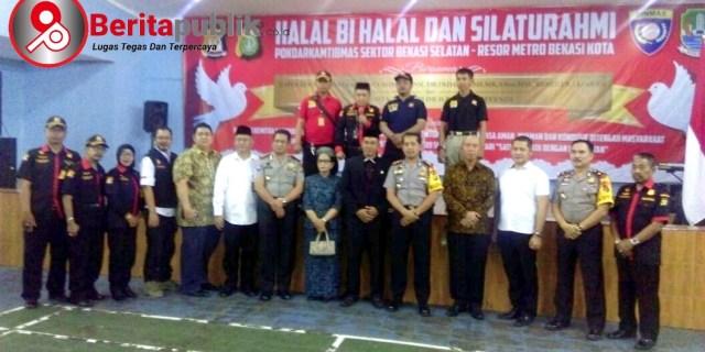 Pokdarkamtibmas Adakan Halal Bihalal Dengan Jajaran Kepolisian Resort Bekasi Kota