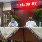 Sekretaris DPRD Kota Bekasi konferensi Pers memastikan tidak ada pegawai Sekretariat terpapar positif Covid-19. Jumat, (17/7).