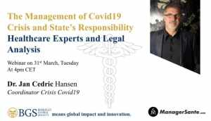 Dr. Jan Cedric Hansen - one of the panelists of Webinar 1 on COVID 19 organised by BGS