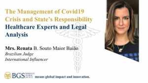 Renata B. Souto Maior Baião-one of the panelists of Webinar 1 on COVID 19 organised by BGS