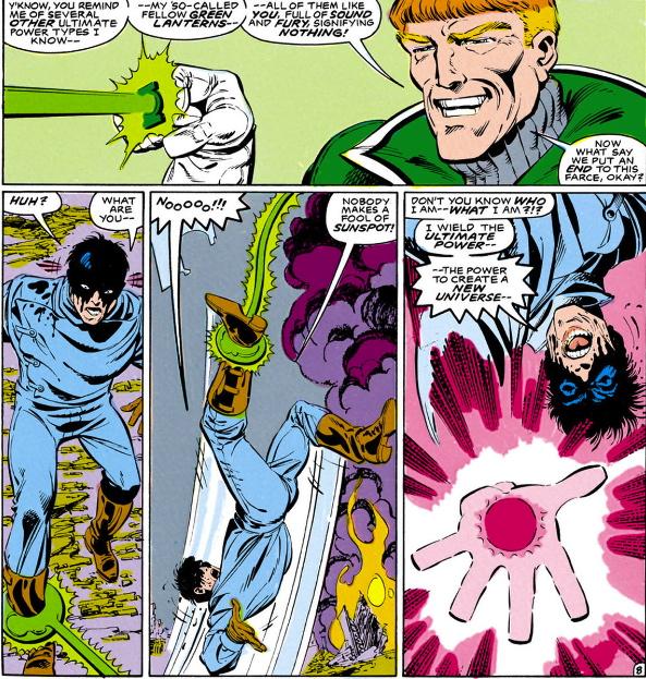 green lantern kills jim shooter new universe