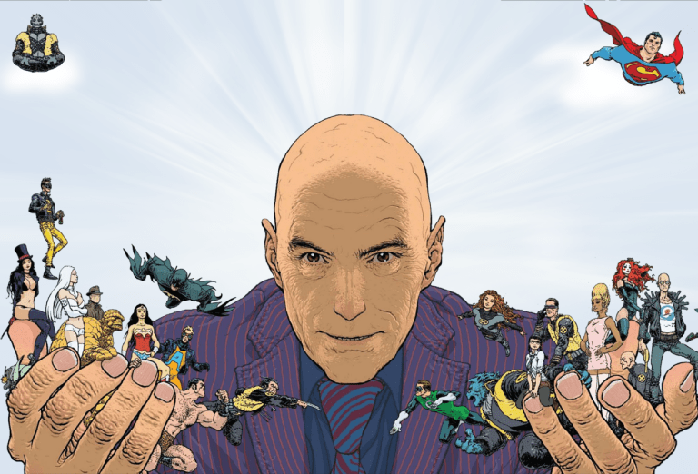grant morrison with his creations