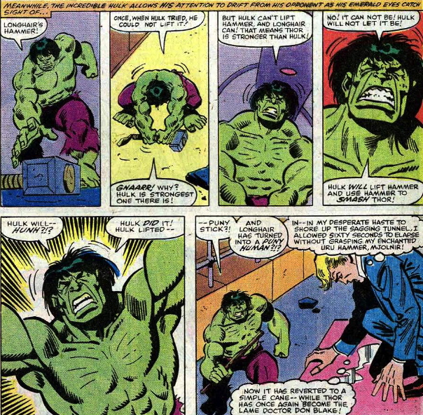 Free Comic Book Day Hulk Heroclix: THE INCREDIBLE HULK #255: The Time He Tried To Lift Thor's