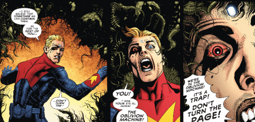 Multiversity Ultra #1 theres a monster at the end of this book
