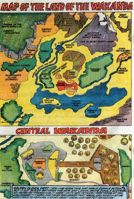 map of wkanda