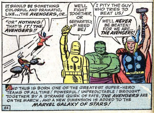 first appearance avengers