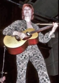 David Bowie as Ziggy Stardust during the Ziggy Stardust Tour.