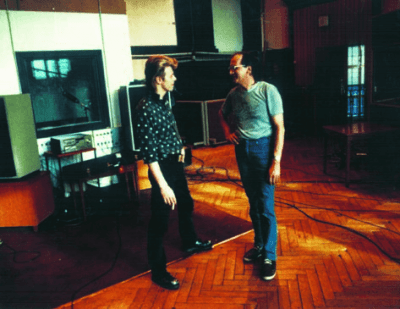 David Bowie in the Meistersaal Studio