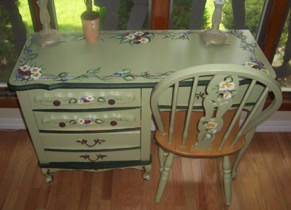 Régi bútorok díszítése