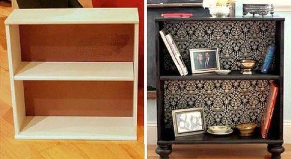 Превращение старой полки в интересный предмет мебели