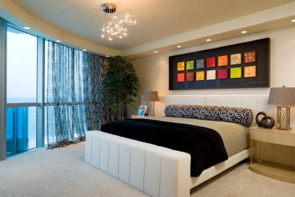 Тюль в спальню: короткая, двойная, цветная, как выбрать и ...