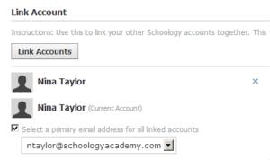 Link Schoology Accounts