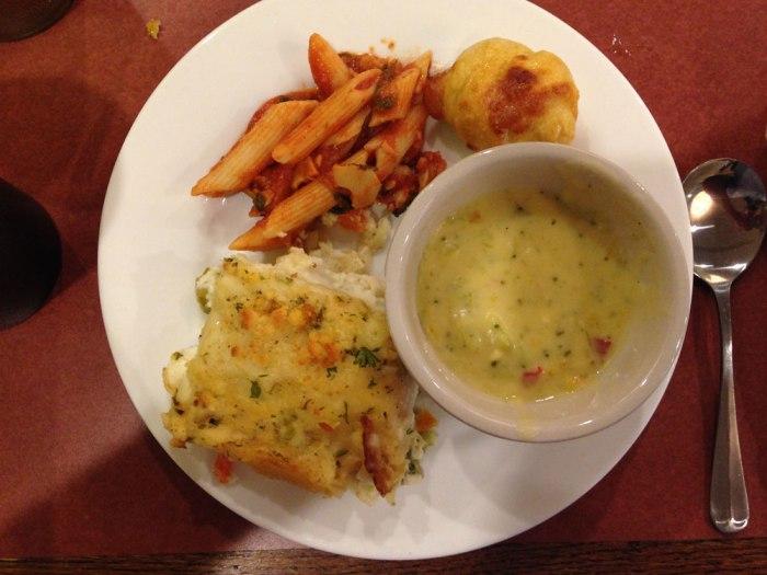 wyomissing-restaurant-cream-of-broccoli-soup-crab-penne-vegetable-lasagna