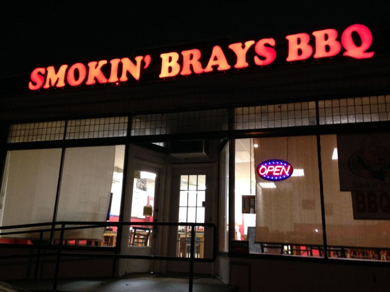 Exterior of Smokin' Brays BBQ
