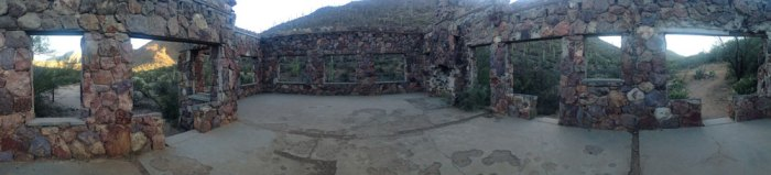 A Panoramic View of The Bowen Homestead in Tucson Mountain Park