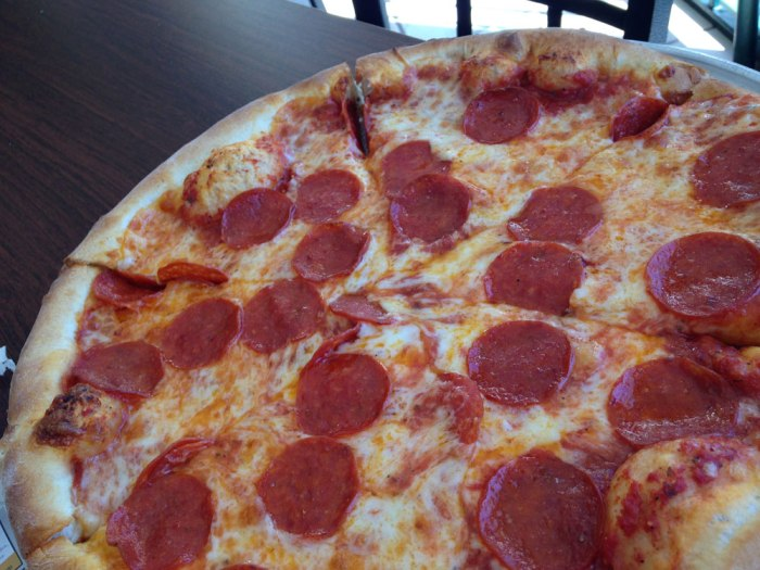 Pepperoni pizza from Esposito's