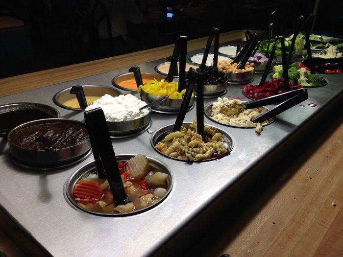 The salad bar at Paolo's in Shillington.