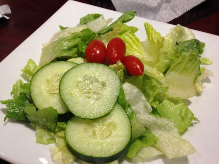 Side salad from Sophia's Italian Restaurant & Pizzeria, Reading, Pa.