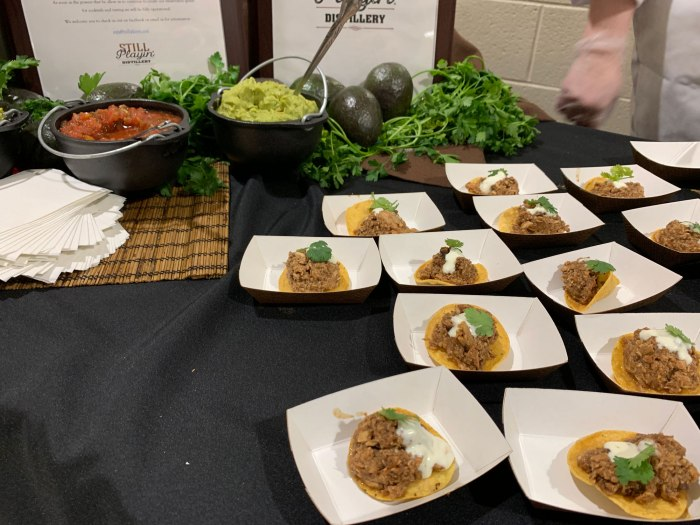 Chicken mole tortillas from Still Playin' Distillery