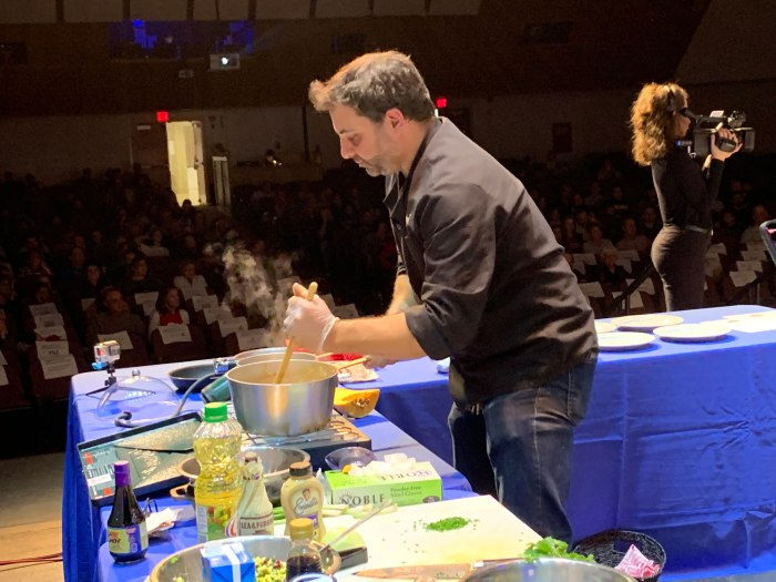 Chef Mitchell Kriebel at work