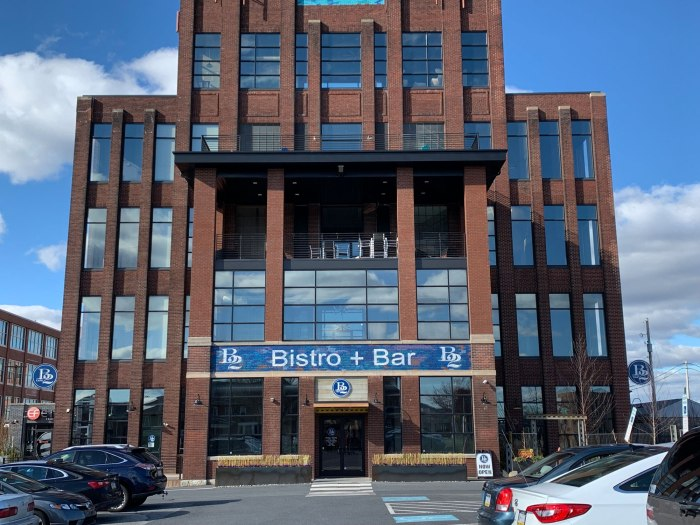 B2 Bistro is located in first floor of the former Narrow Fabrics factory.