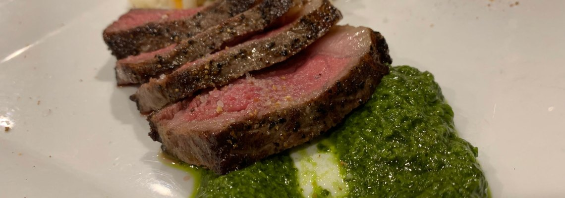 Wagyu Steak with chimichurri sauce