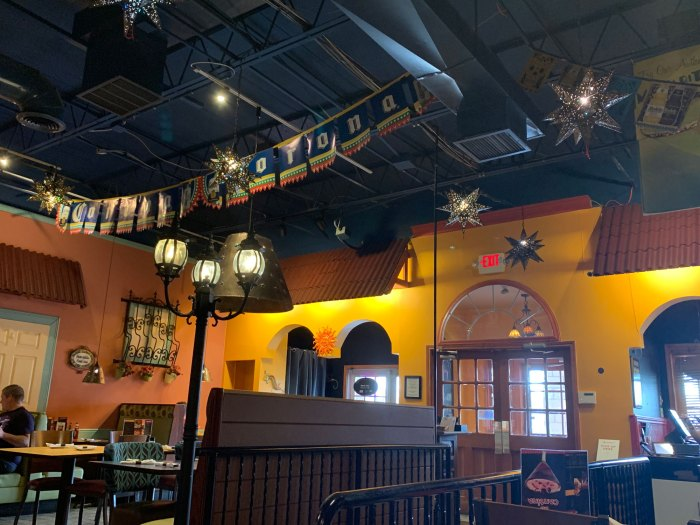 The interior of Alebrije is made to feel like a cozy street in Mexico.