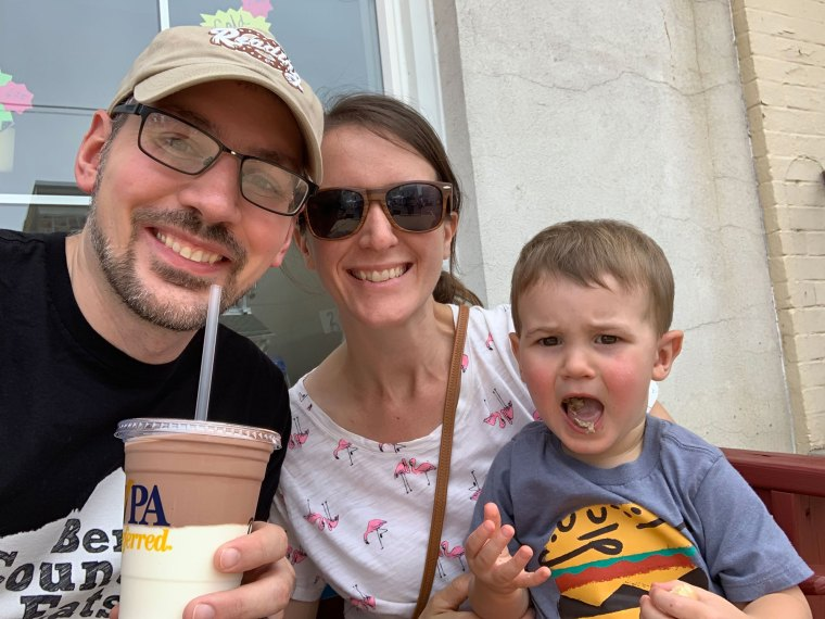 Drinking milkshakes at the Taste of Hamburg-er Festival 2019