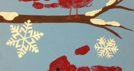 robin hand prints for kids