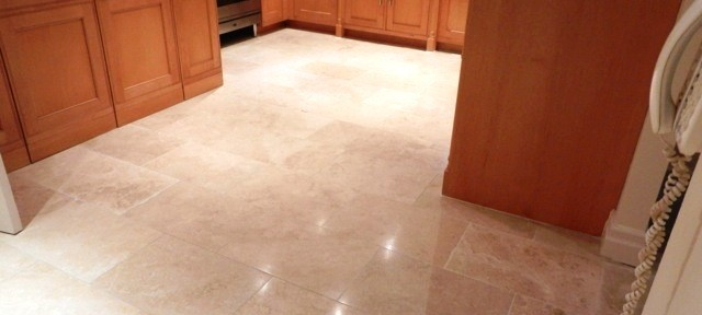 replacing damaged travertine floor
