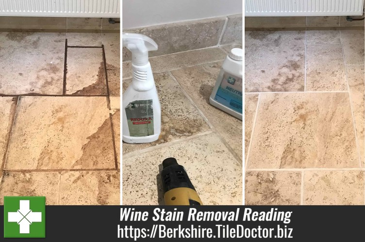 Travertine Floor Red Wine Stain Removal Swallowfield Reading