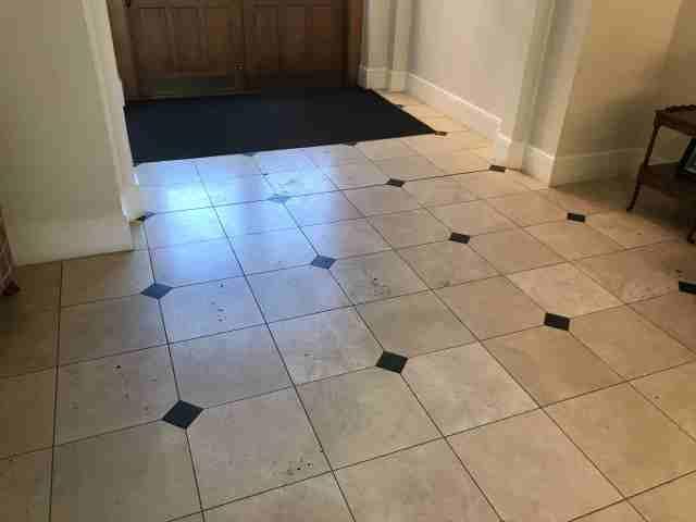 Douai School Travertine Floor Before Cleaning Upper Woolhampton