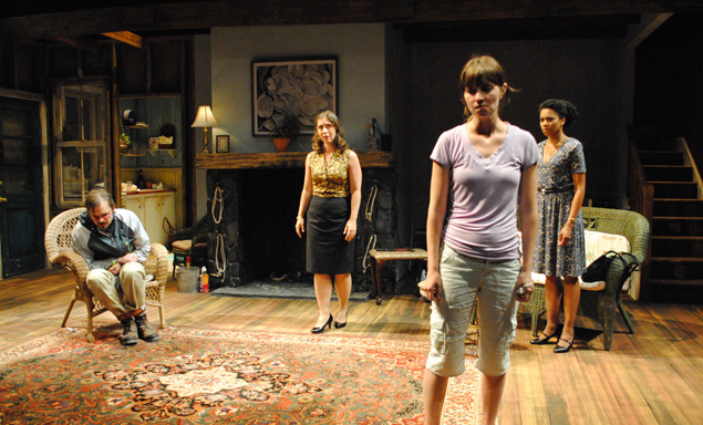 Molly Camp, Miriam Silverman, James McMenamin and Kelly McCreary in Extremities. Photo by Abby LePage.